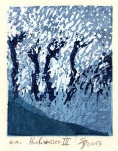 Hochwasser III 8,2x6,7 cm