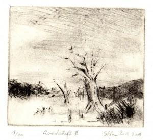 Landschaft II 11x12,3cm