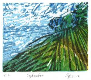 September 9,5x11,7 cm